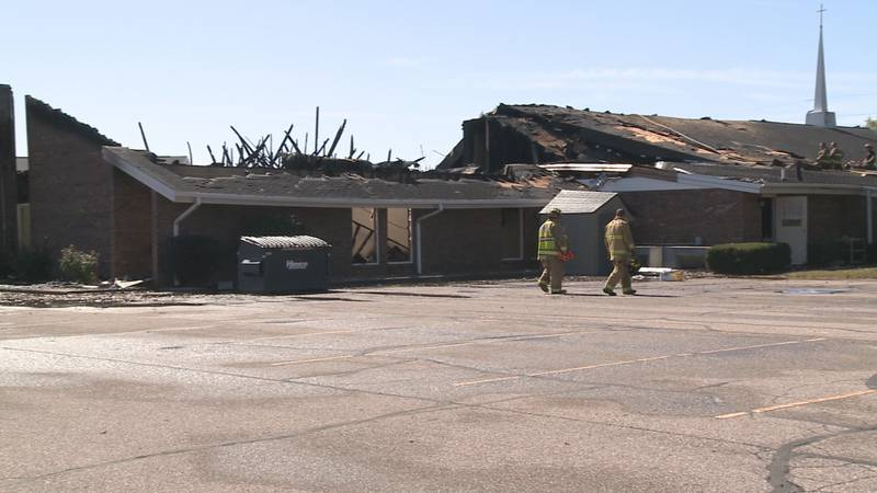 The Church of God in Nappanee caught fire during Sunday Service