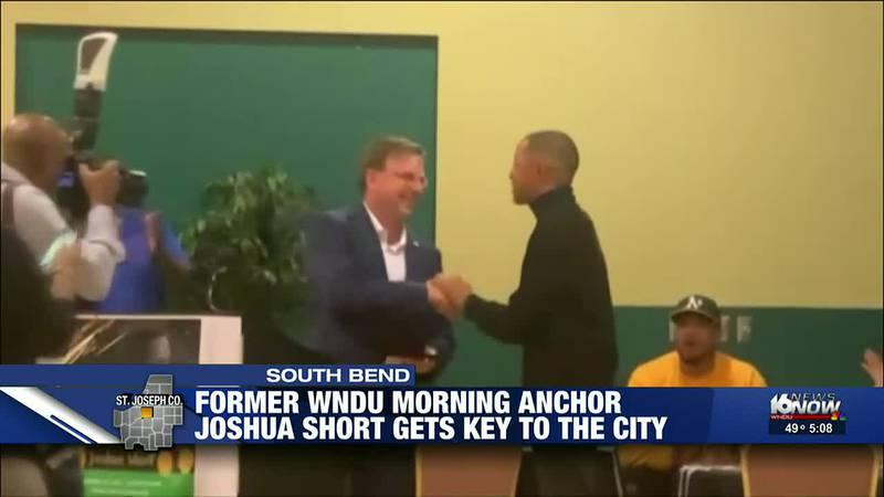 Joshua Short awarded key to the city of South Bend