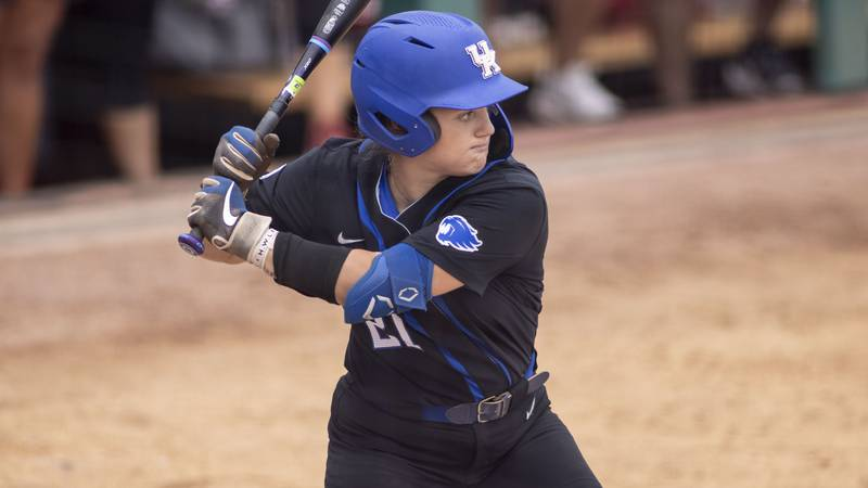 Kentucky infielder Erin Coffel (21) during an NCAA softball game on Friday, May 28, 2021, in...
