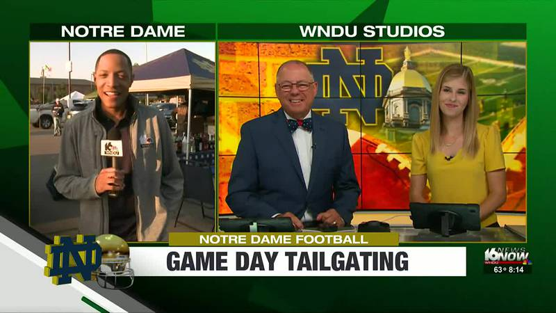 Beautiful weather set the perfect backdrop for thousands of fans who went to Notre Dame Stadium...