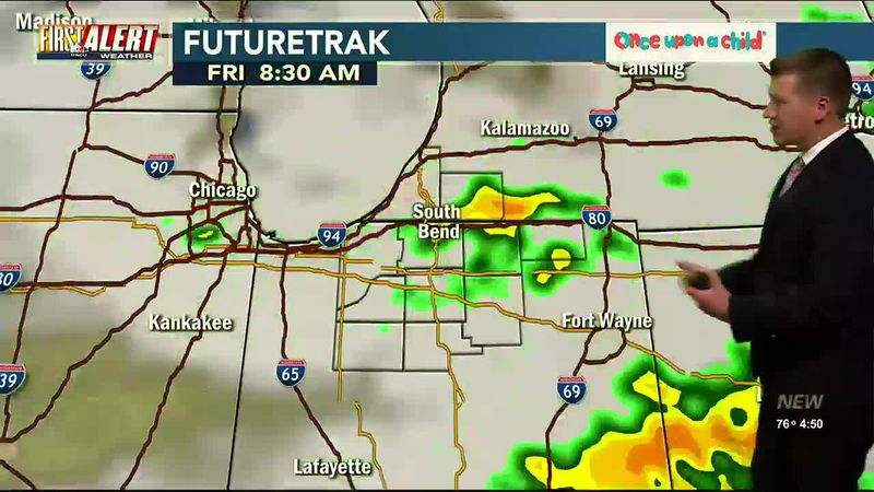 First Alert Forecast: Rounds of Storms Friday