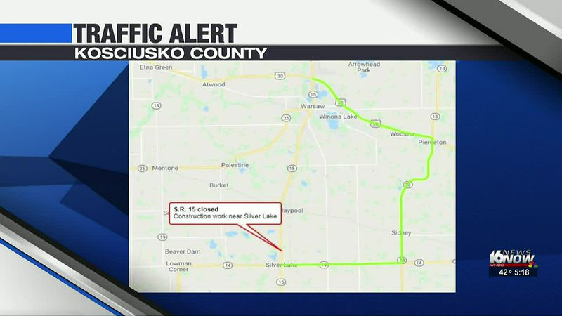 State Road 15 closed near Silver Lake
