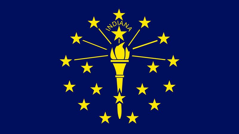 The Flag of Indiana