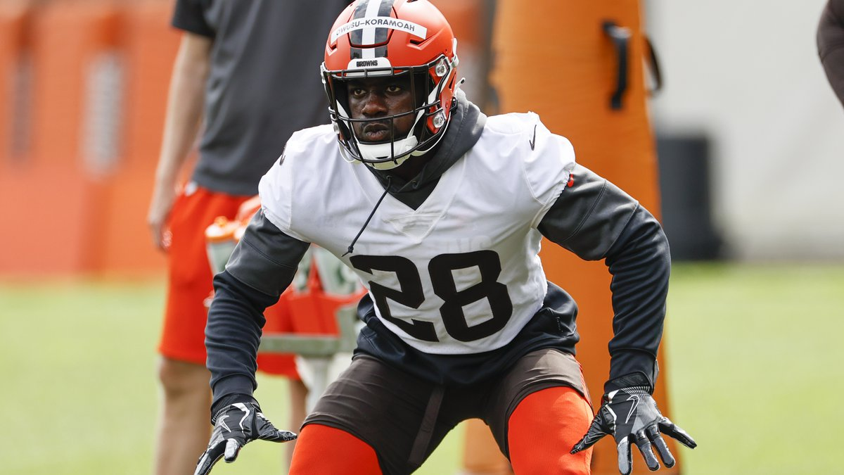 FILE - In this Wednesday, June 9, 2021 file photo, Cleveland Browns linebacker Jeremiah...