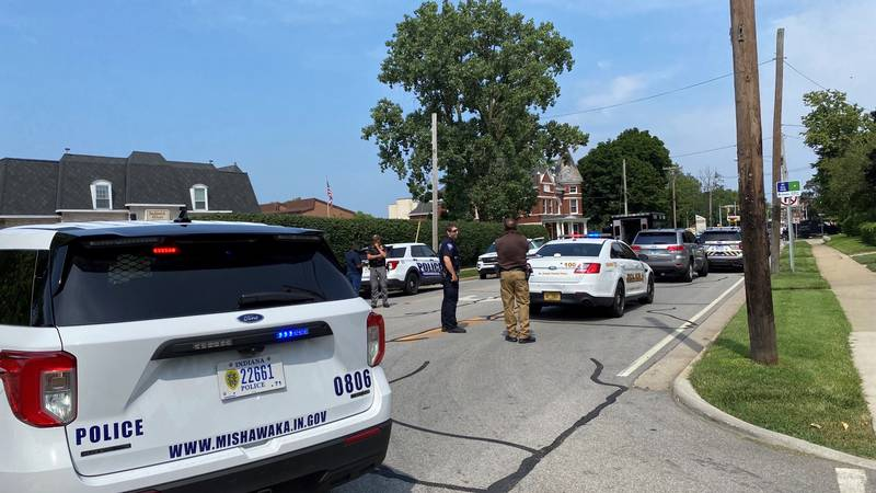 Police respond to a SWAT situation in Mishawaka.