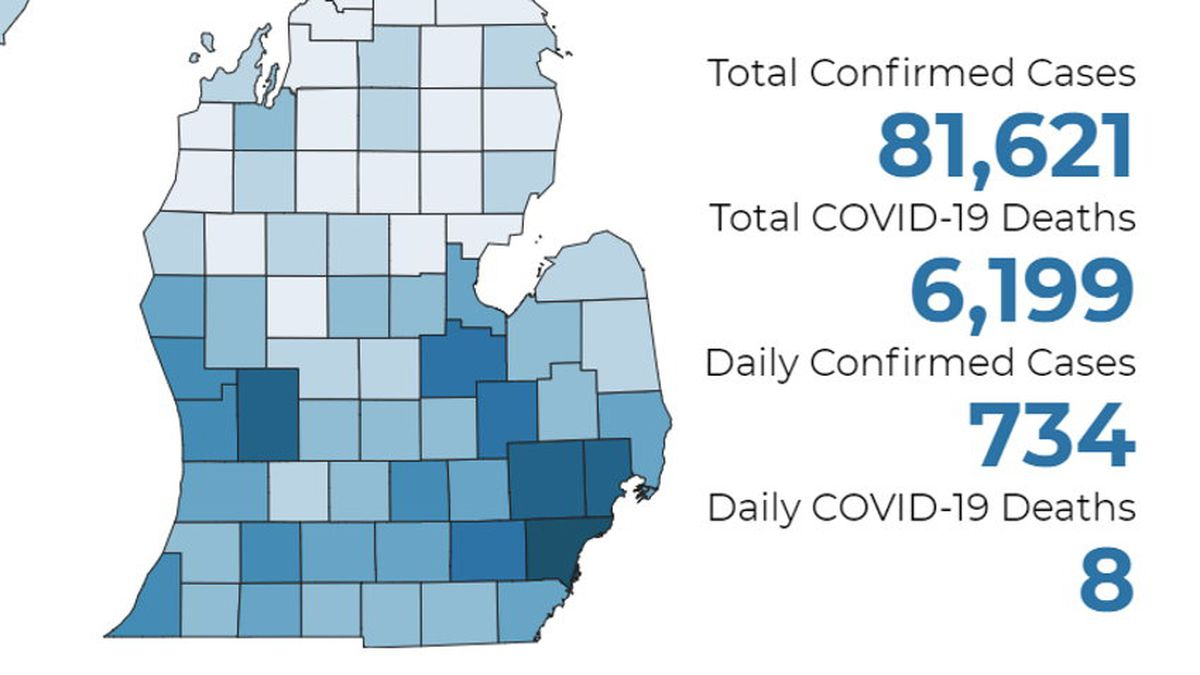 There have been at least 6,199 deaths and 81,621 confirmed cases throughout the state.