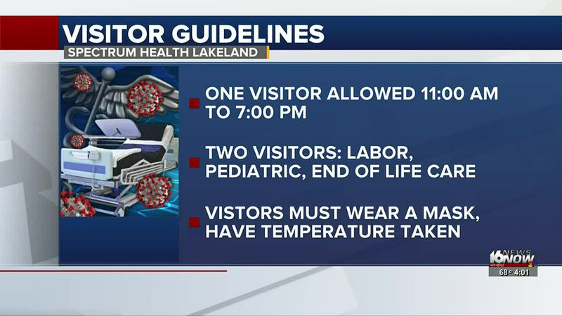 Spectrum Health Lakeland changing visitor guidelines