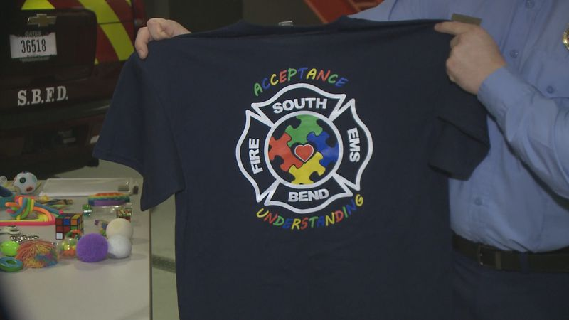 In honor of Autism Awareness Month, the South Bend Fire Department will wear special shirts and...