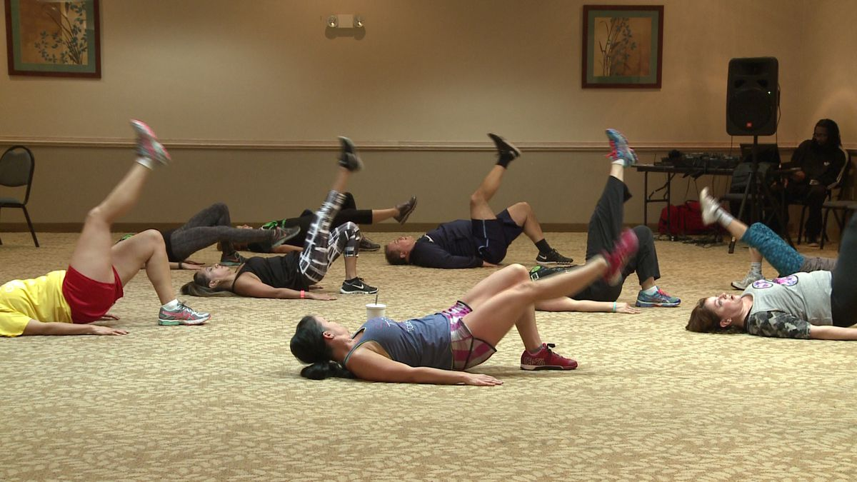 A fitness class in South Bend