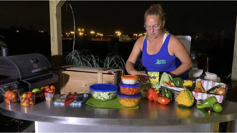 The free classes focus on how to grow food and then how to cook it.