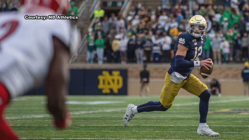Brian Kelly says Notre Dame will still rely on the run game, but knows if they want to take...