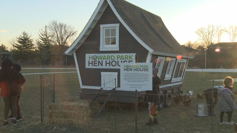 The new Howard Park Hen House is home to fifty chickens that folks can visit while enjoying the...