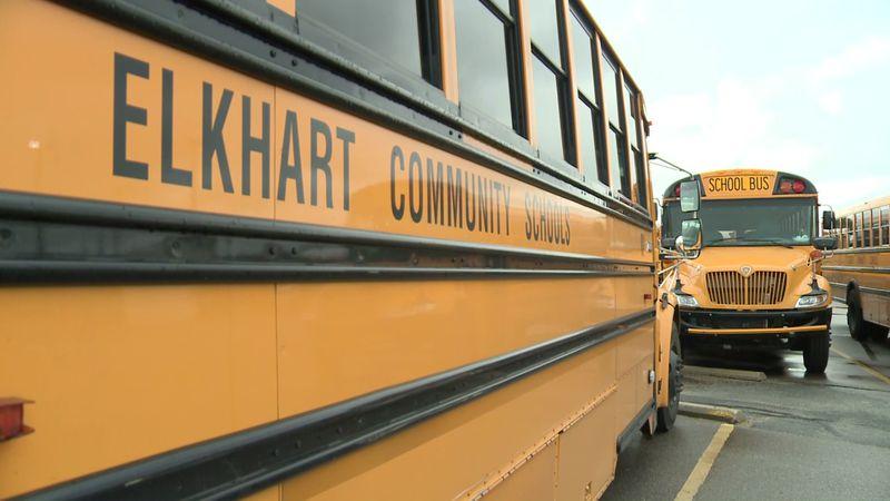 Elkhart Community Schools buses