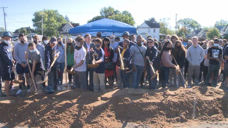 South Bend students help United Way of SJC break ground on South Bend's new Southeast...