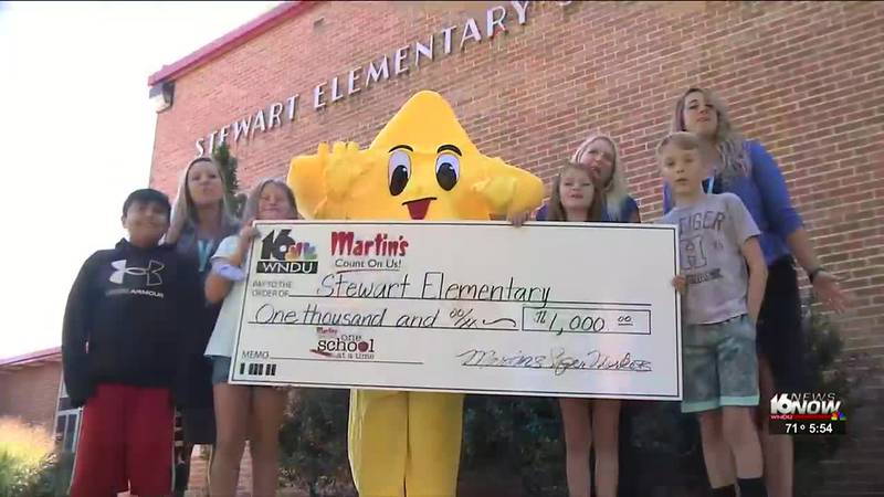 The money will be used to help boost reading initiatives at Stewart Elementary.