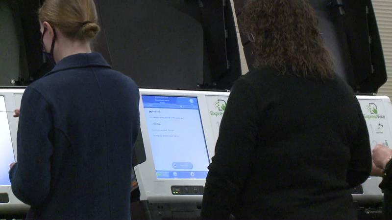 Early in-person voting on the Elkhart school referendum is officially open. Here, voting...