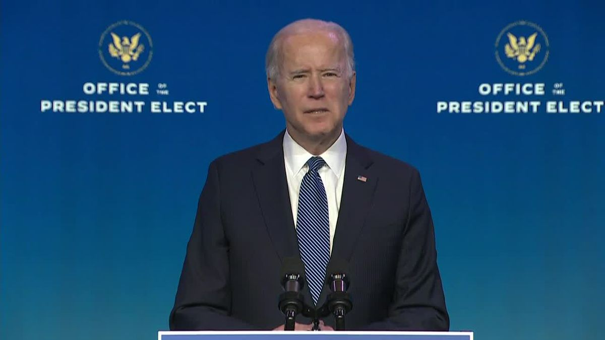 Biden comments on the riots at the Capitol on Wednesday.