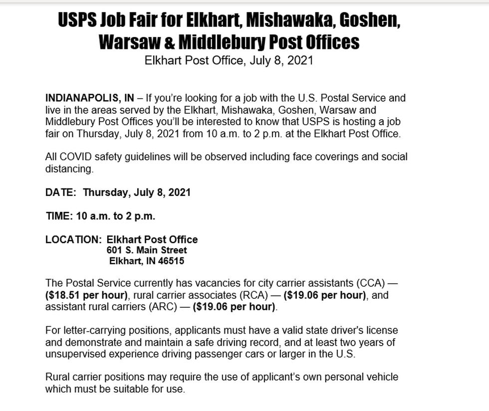 Postal Service Jobs available now.
