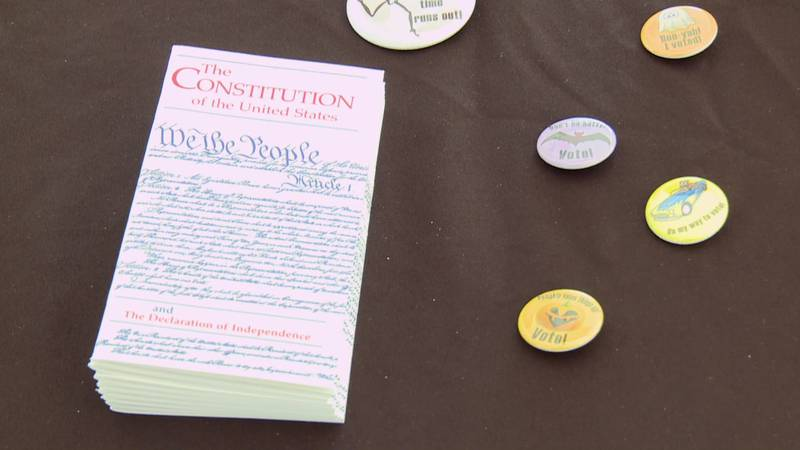 Constitution Day is Friday, Sept. 17, but it was being celebrated Wednesday at IU South Bend...