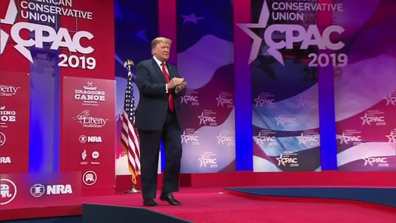 Former President Trump is scheduled to speak at the Conservative Political Action Conference...