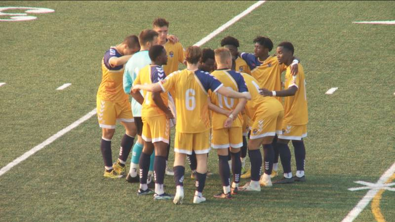 The South Bend Lions go on to win 4-1 to get their first home win of the year.