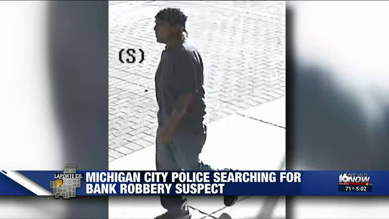 Michigan City Police are releasing new photos of a person they believe was involved in a bank...