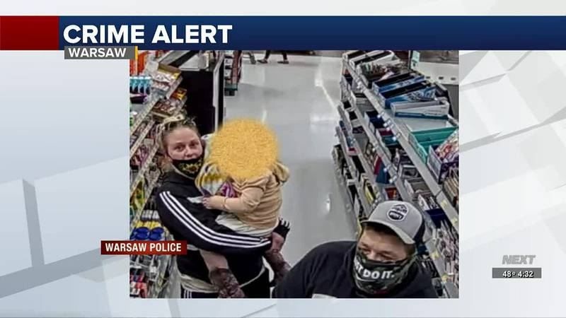 Warsaw police looking for theft suspects