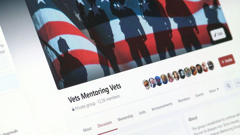 A former Marine founded a Facebook group and website to help veterans.