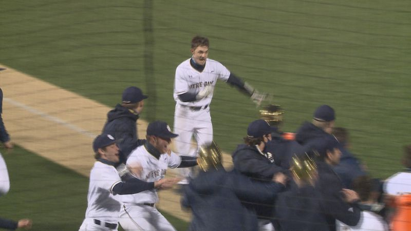 Ryan Cole celebrates after hitting walk-off home run against Duke during the home opener of the...