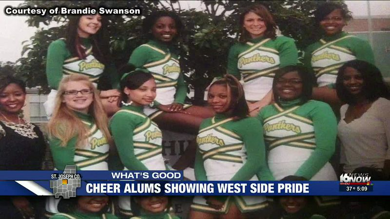 Cheer alums show west side pride