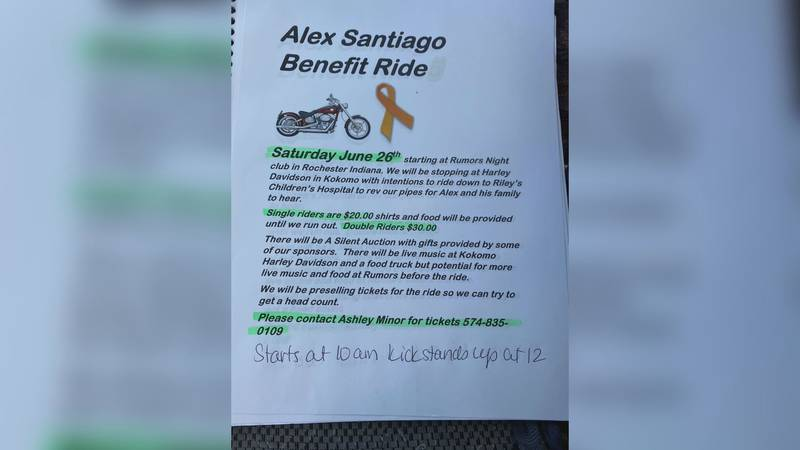 Friends of Alex Santiago's family are organizing a benefit ride on Saturday, June 26th to help...