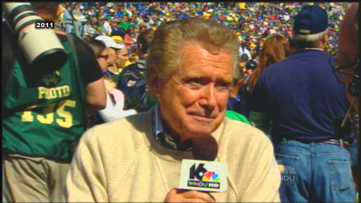 """Regis Philbin was a frequent guest on """"Countdown to Kickoff"""" chatting with our late Jeff Jeffers."""