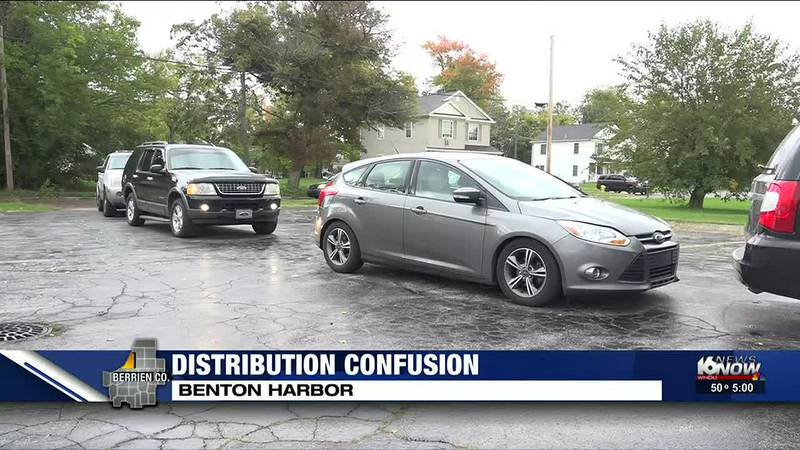 Dozens of cars lined up Friday afternoon, waiting for hours to get water. Residents say they...