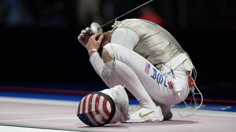 Nik Itkin of the United States reacts after losing against Kirill Borodachev of the Russian...