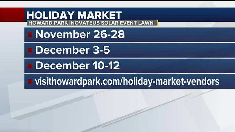 The market will showcase local vendors throughout November and December.