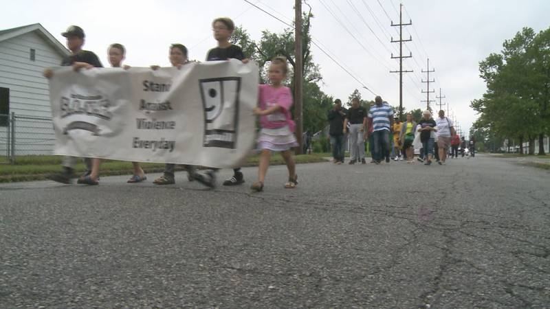 The walk was held near the scene of a deadly shooting that happened in South Bend on June 19th.