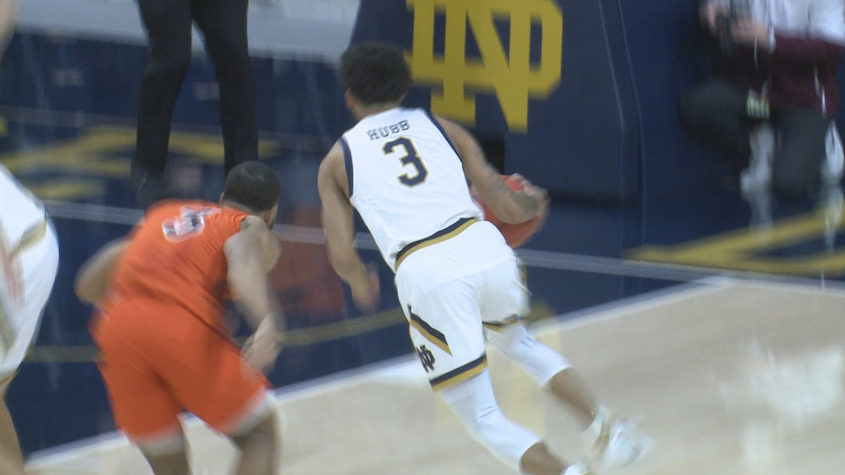Hubb scored 22 of Notre Dame's 51 points on Wednesday night.