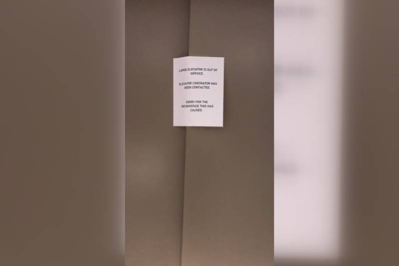 The larger elevator at the Niles Housing Commission has been broken since January.