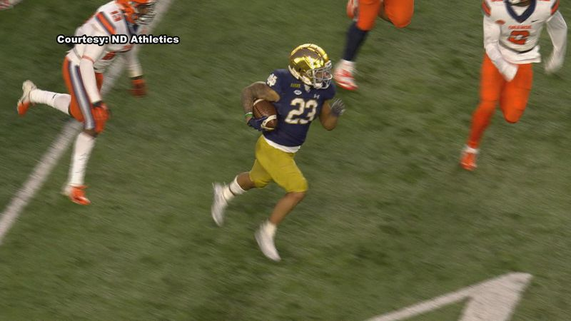 Williams is the first Irish running back to hit that mark since Josh Adams back in 2017.