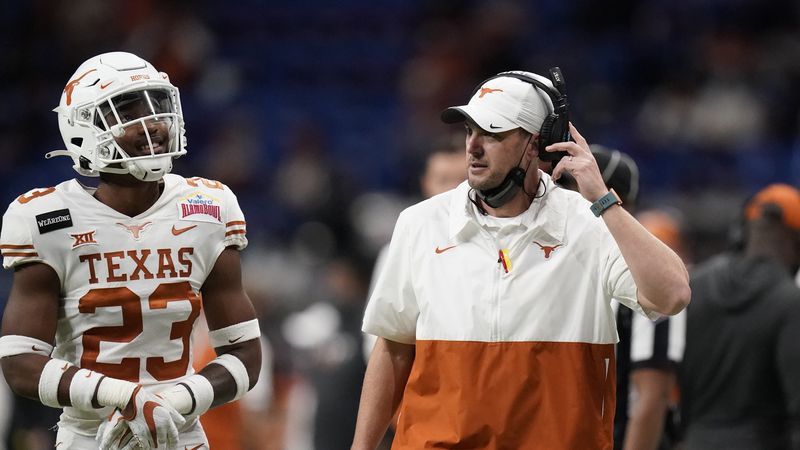 Texas head coach Tom Herman during the second half of the Alamo Bowl NCAA college football...