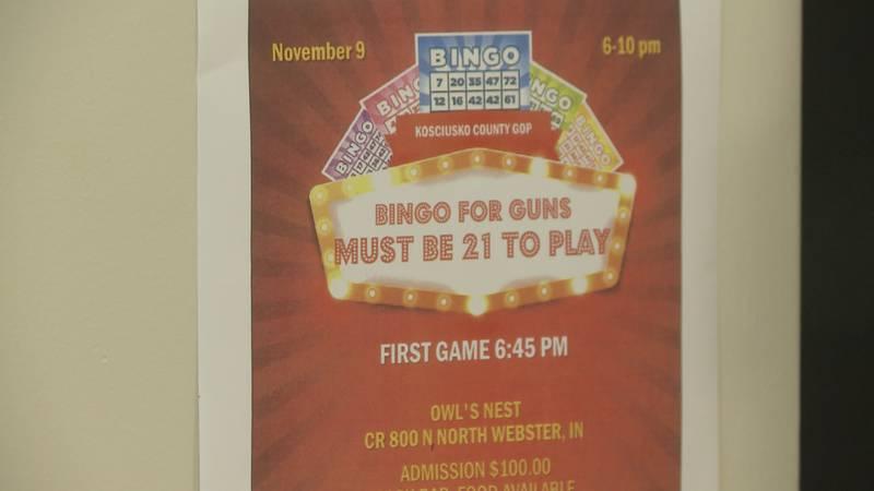 The Kosciusko County GOP chairman says the bingo event is not a 'gun giveaway.'