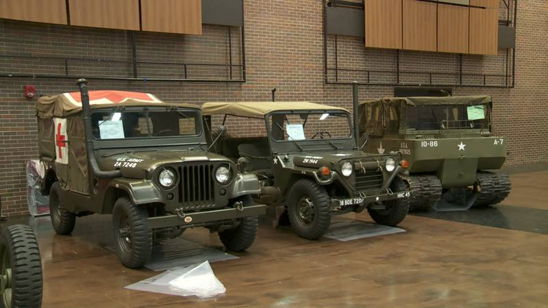 The South Bend Century Center hosted a military vehicle convention.