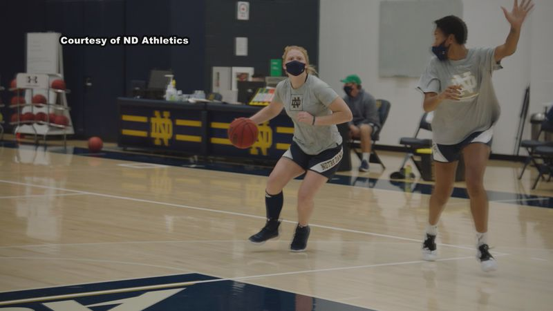 Notre Dame Women's basketball is anxiously awaiting playing the first games of the Niele Ivey...