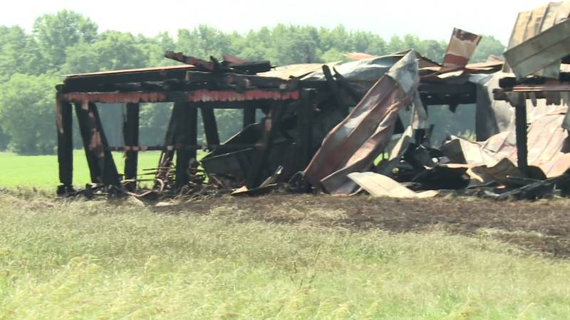 The Kosciusko County Sheriff's Department is investigating two barn fires they say started by...