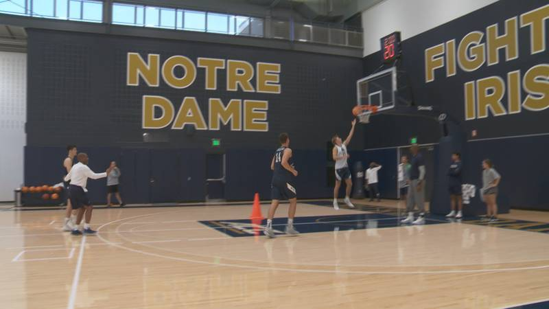 Notre Dame Men's Basketball coach Mike Brey is focusing on getting his team back to the NCAA...