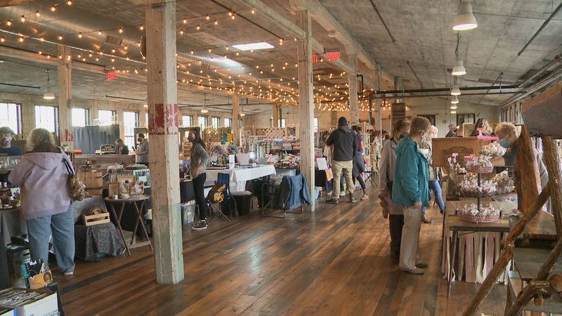 More than 60 local vendors were able to show off their products at a Spring Artisan Market...