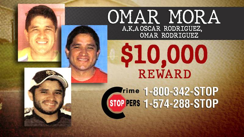 Call Crime Stoppers if you have information on the whereabouts of Omar Mora.