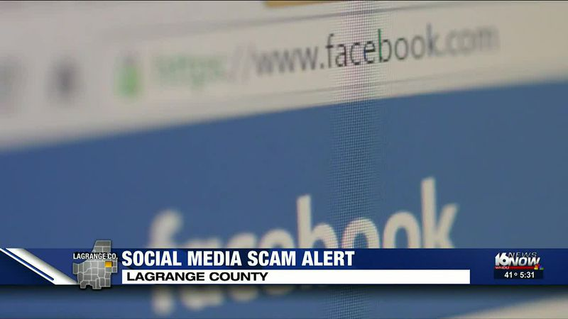 LaGrange County Sherriff's Department warning about social media blackmail scam