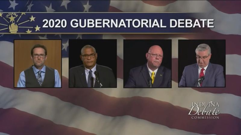 We're keeping an eye on the gubernatorial race down in Indianapolis. It's a three man race...