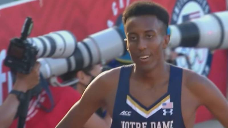 Yared Nuguse moves on to the Olympic Trial semifinal in the 1500-meter race.